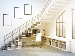 free space under the stairs