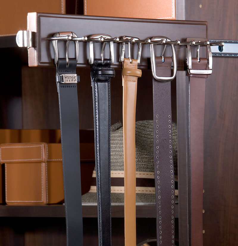 Belt organizer and other space solutions for Worcester closet designs